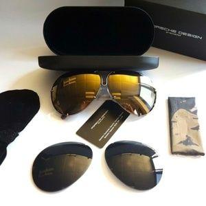 Porsche Design Accessories - NWT Porsche Design 66mm P8478 E Copper Sunglasses